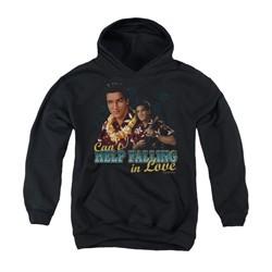 Elvis Presley Youth Hoodie Can't Help Falling Black Kids Hoody