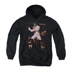 Elvis Presley Youth Hoodie Hit The Lights Black Kids Hoody