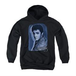 Elvis Presley Youth Hoodie Overlay Black Kids Hoody