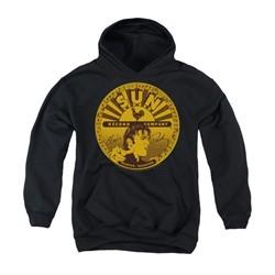 Elvis Presley Youth Hoodie Sun Records Full Logo Black Kids Hoody