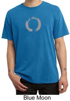 Mens Yoga T-shirt ? Enso Zen Meditation Adult Pigment Dyed Tee Shirt