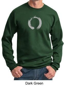 Mens Yoga Sweatshirt ? Enso Zen Meditation Adult Sweat Shirt