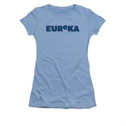 Eureka Shirt Juniors Logo Carolina Blue T-Shirt