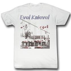 Evel Knievel Shirt Jump High Adult White Tee T-Shirt