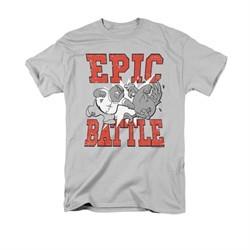 Family Guy Shirt Epic Battle Silver T-Shirt