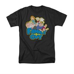 Family Guy Shirt Family Fight Black T-Shirt