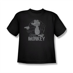 Family Guy Shirt Kids Evil Monkey Black T-Shirt