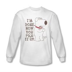 Family Guy Shirt Pick It Up Long Sleeve White Tee T-Shirt