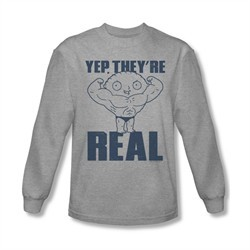 Family Guy Shirt They're Real Long Sleeve Silver Tee T-Shirt