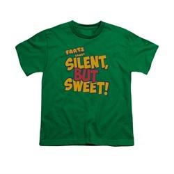 Farts Candy Shirt Kids Silent But Sweet Kelly Green T-Shirt