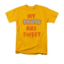 Farts Candy Shirt Sweet Farts Gold T-Shirt
