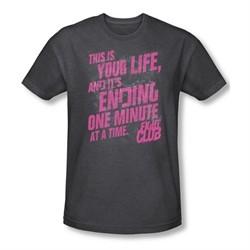 Fight Club Shirt Life Ending Adult Heather Charcoal Tee T-Shirt