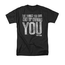 Fight Club Shirt Owning You Adult Black Tee T-Shirt