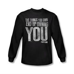 Fight Club Shirt Owning You Long Sleeve Black Tee T-Shirt