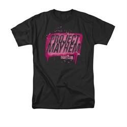 Fight Club Shirt Project Mayhem Adult Black Tee T-Shirt