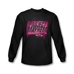 Fight Club Shirt Project Mayhem Long Sleeve Black Tee T-Shirt