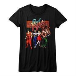 Final Fight Shirt Juniors FF Gang Black T-Shirt