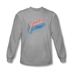 Flashdance Shirt Spray Logo Long Sleeve Athletic Heather Tee T-Shirt