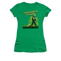 Forbidden Planet Shirt Juniors Old Poster Kelly Green T-Shirt