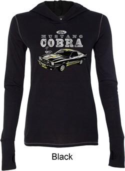 Ford 1974 Cobra Profile Ladies Tri Blend Hoodie Shirt