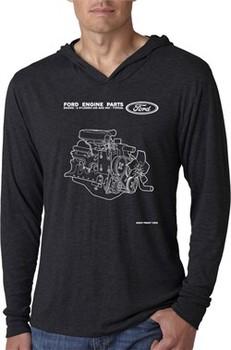 Ford Engine Parts Lightweight Hoodie Tee