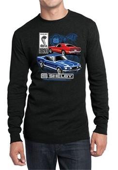 Ford Mustang Mens Shirt GT 500 Long Sleeve Thermal Tee T-Shirt