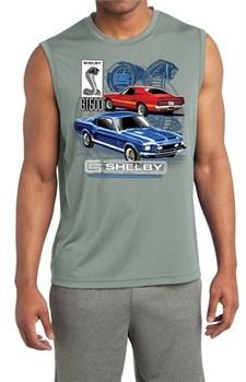 Ford Mustang Mens Shirt GT 500 Sleeveless Moisture Wicking Tee T-Shirt