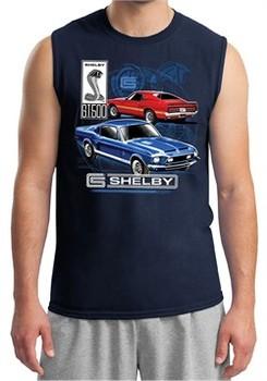 Ford Mustang Mens Shirt GT 500 Sleeveless Muscle Tee T-Shirt