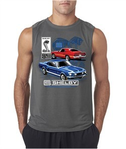 Ford Mustang Mens Shirt GT 500 Sleeveless Tee T-Shirt