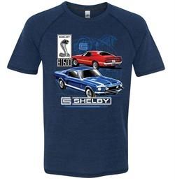 Ford Mustang Mens Shirt GT 500 Tri Blend Tee T-Shirt