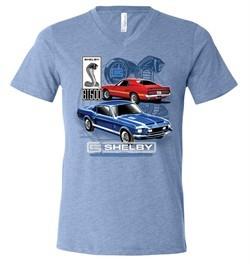 Ford Mustang Mens Shirt GT 500 Tri Blend V-neck Tee T-Shirt