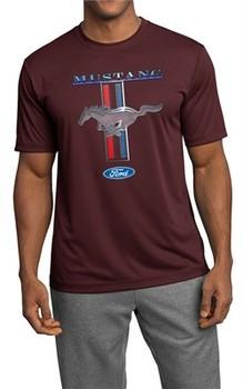 Ford Mustang Mens Shirt Mustang Stripe Moisture Wicking Tee T-Shirt