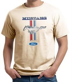 Ford Mustang Mens Shirt Mustang Stripe Organic Tee T-Shirt