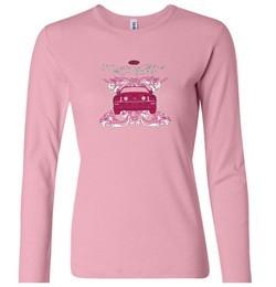 Ford Mustang Shirt Girls Run Wild Ladies Long Sleeve Tee T-Shirt