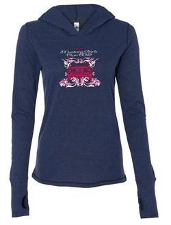 Ford Mustang Shirt Girls Run Wild Ladies Tri Blend Hoodie Tee T-Shirt