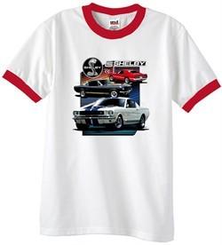 Ford Mustang Shirt Various Shelby Mens Ringer Tee T-Shirt