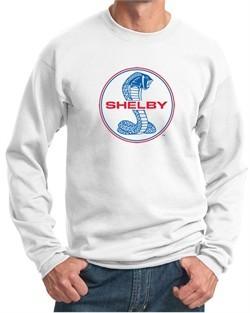 Ford Mustang Sweatshirt Shelby Cobra Blue and Red Logo Sweatshirt