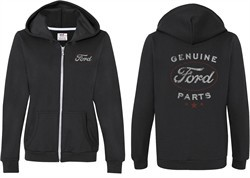 Ford New Genuine Ford Parts (Front & Back) Ladies Full Zip Hoodie
