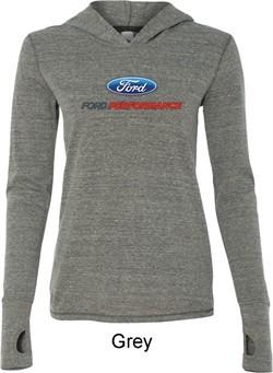 Ford Performance Parts Ladies Tri Blend Hoodie Shirt