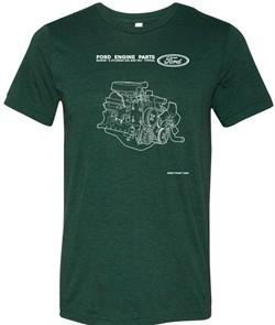 Ford Shirt Engine Parts Tri Blend Tee