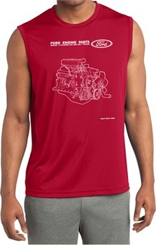 Ford Tee Engine Parts Dry Wicking Sleeveless Shirt