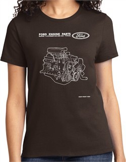 Ford Tee Engine Parts Ladies T-shirt