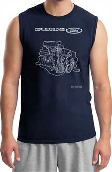 Ford Tee Engine Parts Muscle Shirt