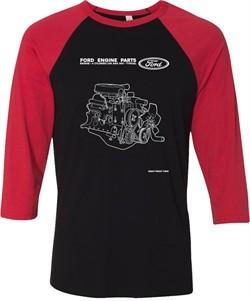 Ford Tee Engine Parts Raglan Shirt