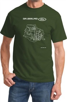 Ford Tee Engine Parts T-shirt