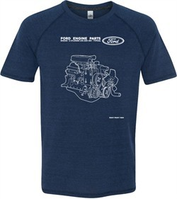 Ford Tee Engine Parts Tri Blend T-shirt