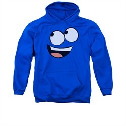 Foster's Home For Imaginary Friends Hoodie Sweatshirt Blue Face Royal Blue Adult Hoody Sweat Shirt