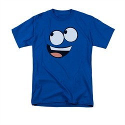 Foster's Home For Imaginary Friends Shirt Blue Face Adult Royal Blue Tee T-Shirt