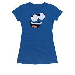 Foster's Home For Imaginary Friends Shirt Juniors Blue Face Royal Blue Tee T-Shirt