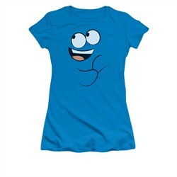 Foster's Home For Imaginary Friends Shirt Juniors Blue Smile Turquoise Tee T-Shirt